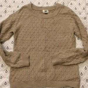 Old navy cable knit sweater medium cream